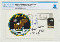 "Apollo 11 Crew-Signed ""Type Three"" Insurance Cover Directly From The Armstrong Family Collection™, CAG Certifi..."