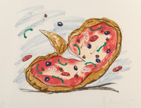 Claes Oldenburg (b. 1929) Pizza/Palette, 1996 Lithograph in colors on Somerset Velvet paper 29-1/2 x 38-1/2 inches (7