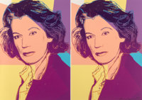 Andy Warhol (1928-1987) Mildred Scheel, 1980 Screenprint in colors with diamond dust on Arches 88 pa