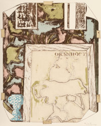 Jasper Johns (b. 1930) Untitled, 1992 Lithograph in colors on Twinrocker handmade paper 38-3/4 x