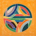 Prints:Contemporary, Frank Stella (b. 1936). Sinjerli Variations Squared with Colored Grounds VI, 1981. Offset lithograph a...