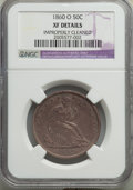 Seated Half Dollars: , 1860-O 50C -- Improperly Cleaned -- NGC Details. XF. NGC Census: (15/216). PCGS Population: (43/310). CDN: $150 Whsle. Bid ...