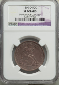1860-O 50C -- Improperly Cleaned -- NGC Details. XF. NGC Census: (15/216). PCGS Population: (43/310). CDN: $150 Whsle. B...