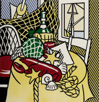 Roy Lichtenstein (1923-1997) Still Life with Lobster, from Six Still Lifes, 1974 Lithogra