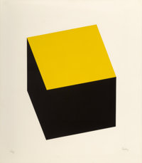 Ellsworth Kelly (1923-2015) Yellow/Black, from Series of Ten Lithographs, 1970 Lithograph