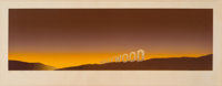 Ed Ruscha (b. 1937) Hollywood, 1968 Screenprint in colors on laid paper 12-1/2 x 40-3/4 inches (3