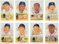 "1989 Perez-Steele ""Celebration"" Hall of Famers Multi-Signed Limited Edition Postcard Boxed Set"