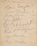 Autographs:Others, 1930's-70's Baseball Autographs Includes Players Who Died Young.... (Total: 4 items)