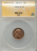 Lincoln Cents: , 1931-S 1C MS62 Red and Brown ANACS. Mintage 866,000. ...