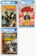 Golden Age (1938-1955):Miscellaneous, Golden to Silver Age CGC-Graded Comics Group of 3 (Various Publishers, 1948-58).... (Total: 3 )