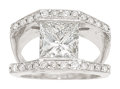 Estate Jewelry:Rings, Diamond, Platinum Ring The ring features a rad...