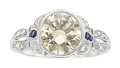 Estate Jewelry:Rings, Diamond, Sapphire, Platinum Ring . ...