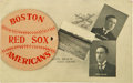 Baseball Collectibles:Others, 1908 Red Sox Foldout Photos Postcard from The Casey Stengel Collection....