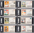Autographs:Others, 1980's-90's Hall of Famers Signed First Day Covers Lot of 27, PSA/DNA Authentic-NM 9....