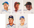 Autographs:Others, 1989 Hall of Famers Multi-Signed Living Legends Limited Edition Set of 20. ...