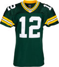 Football Collectibles:Uniforms, 2013 Aaron Rodgers Game Worn & Unwashed Green Bay Packers Jersey - Photo Matched to 10/6 vs. Lions....