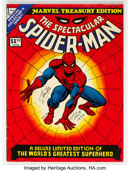 Marvel Treasury Edition #1 Limited Signed Edition #376/1000 (Marvel, 1974) Condition: VG....