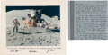 Explorers:Space Exploration, Apollo 15: Crew-Signed Presentation Mat and Dave Scott Autograph Letter Signed with Framed Patch Display. ...