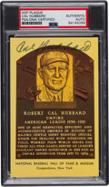 Autographs:Others, 1970's Cal Hubbard Signed Hall of Fame Plaque, PSA Authentic....