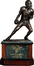 Football Collectibles:Others, 2002 Dan Marino Most Valuable Player Award Presented to & Signed by Ricky Williams. ...