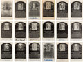 Baseball Collectibles:Others, 1950's Signed Artvue Hall of Fame Plaques Lot of 18. ...