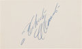 Baseball Collectibles:Others, 1960's Roberto Clemente Signed Index Card, PSA/DNA Mint 9. ...