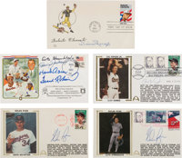 1982-95 Hall of Famers Multi-Signed First Day Covers Lot of 5