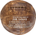 Boxing Collectibles:Memorabilia, 1939 Joe Louis Training Used Medicine Ball....