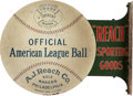 Baseball Collectibles:Others, Circa 1920 Reach Sporting Goods Sign....