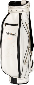 Golf Collectibles:Bags/Flagsticks/Clothing, 1990's Isleworth Multi-Signed Golf Bag with Tiger Woods & Payne Stewart. ...