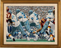 """Football Collectibles:Others, 1987 """"Cowboys: America's Cowboys"""" Original Artwork by Rick Rush...."""