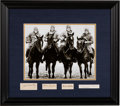 Autographs:Others, 1920's-40's The Four Horseman Signed Cut Signature Display....