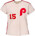 Baseball Collectibles:Uniforms, Circa 1980 Hal Greer Charity Game Worn Philadelphia Phillies Jersey, Pants & Stirrup Socks....