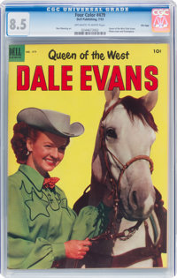 Four Color #479 Dale Evans - File Copy (Dell, 1953) CGC VF+ 8.5 Off-white to white pages