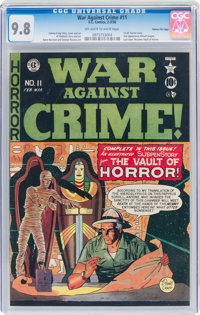 War Against Crime #11 Gaines File Pedigree 7/11 (EC, 1950) CGC NM/MT 9.8 Off-white to white pages
