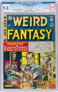 Weird Fantasy #13 (#1) Gaines File Pedigree (EC, 1950) CGC NM/MT 9.8 Off-white to white pages
