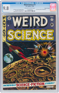 Weird Science #11 Gaines File Pedigree 10/12 (EC, 1952) CGC NM/MT 9.8 Off-white to white pages