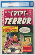 Golden Age (1938-1955):Horror, Crypt of Terror #18 Gaines File Pedigree (EC, 1950) CGC NM/MT 9.8 Off-white to white pages....