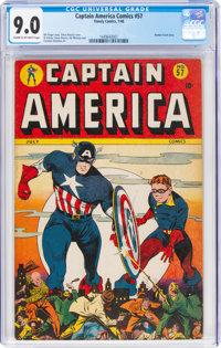 Captain America Comics #57 (Timely, 1946) CGC VF/NM 9.0 Cream to off-white pages