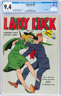 Lady Luck #88 (Quality, 1949) CGC NM 9.4 Off-white pages