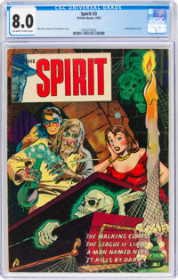 The Spirit #3 (Fiction House, 1952) CGC VF 8.0 Off-white to white pages