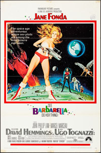 "Barbarella (Paramount, 1968). Folded, Fine/Very Fine. One Sheet (27"" X 41""). Style A, Robert McGinnis Artwork..."