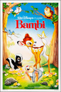 "Movie Posters:Animation, Bambi & Other Lot (Buena Vista, R-1988). Folded, Very Fine+. One Sheets (2) (27"" X 41"") SS. Bill Morrison Artwork. Animation... (Total: 2 Items)"