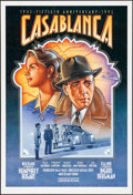 "Movie Posters:Academy Award Winners, Casablanca (Warner Brothers, R-1992). Folded, Near Mint. 50th Anniversary One Sheet (27"" X 39.75"") SS, Dudek Laslo Artwork. ..."
