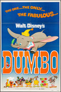 """Movie Posters:Animation, Dumbo & Other Lot (Buena Vista, R-1972). Folded, Very Fine-. One Sheets (2) (27"""" X 41""""). Animation.. ... (Total: 2 Items)"""