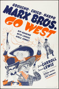 "Movie Posters:Comedy, Go West (MGM, R-1962). Folded, Very Fine+. One Sheet (27"" X 41""). Al Hirschfeld Artwork. Comedy.. ..."