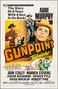 "Movie Posters:Western, Gunpoint & Other Lot (Universal, 1966). Folded, Overall: Fine/Very Fine. One Sheet (27"" X 41"") & Trimmed One Sheet (approx. ... (Total: 2 Items)"