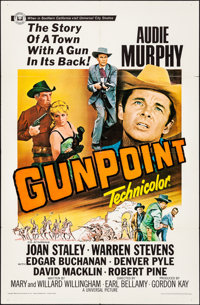 "Gunpoint & Other Lot (Universal, 1966). Folded, Overall: Fine/Very Fine. One Sheet (27"" X 41"") & Trimm..."