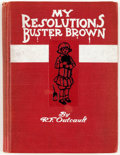 Platinum Age (1897-1937):Miscellaneous, Buster Brown My Resolutions Hardcover Third Edition Signed and Inscribed by Outcault (Frederick A. Stokes Co., 1906) C...