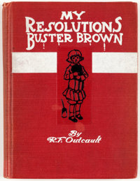 Buster Brown My Resolutions Hardcover Third Edition Signed and Inscribed by Outcault (Frederick A. Stokes Co., 1906) C...